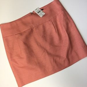 NWT J. Crew Factory peachy pink Career skirt 4